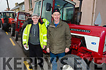 Mike Furlong (Beaufort) and Tom O'Sullivan (Killorglin) at the James Ashe Memorial Tractor run in Boolteens on Sunday.