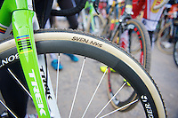 personalised Sven Nys (Dugast) tires<br /> <br /> Leuven Soudal Classic 2014