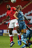 Chuks Aneke of Charlton Athletic and Joseph Mills of Forest Green Rovers during Charlton Athletic vs Forest Green Rovers, Caraboa Cup Football at The Valley on 13th August 2019