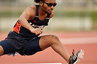 SAN ANTONIO, TX - MARCH 16, 2019: The University of Texas at San Antonio Roadrunners compete in the UTSA Invitational Track & Field Meet at the Park West Athletics Complex. (Photo by Jeff Huehn)