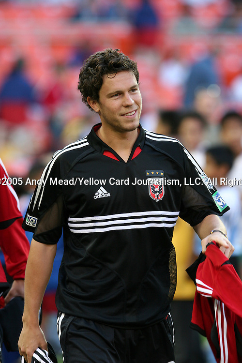 21 May 2005: Shawn Kuykendall. DC United defeated the Kansas City Wizards 3-2 at RFK Stadium in Washington, DC in a regular season Major League Soccer game. . .