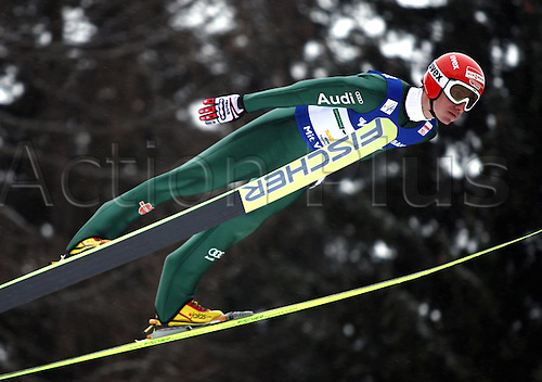 10 01 2010  FIS WC ski jumping at Kulm Bath Mitterndorf Austria 10 Jan 10 Ski Nordic Ski jumping ski jumping FIS World Cup Kulm Picture shows Michael Uhrmann ger .