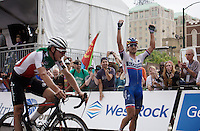 Peter Sagan (SVK/Tinkoff-Saxo) is the new World Champion!<br /> After the finish line he throws his bike away to enjoy his victory.<br /> <br /> Elite Women Road Race<br /> UCI Road World Championships Richmond 2015 / USA