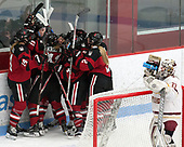 Kasidy Anderson (NU - 37), Melissa Haganey (NU - 19), Denisa Krížová (NU - 41), Codie Cross (NU - 4), Shelby Herrington (NU - 6), Lauren Kelly (NU - 2) -  The Boston College Eagles defeated the Northeastern University Huskies 2-1 in overtime to win the 2017 Hockey East championship on Sunday, March 5, 2017, at Walter Brown Arena in Boston, Massachusetts.
