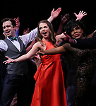 Cavin Creel, Sutton Foster and Sheryl Lee Ralph during the curtain Call bows for the Actors Fund's 15th Anniversary Reunion Concert of 'Thoroughly Modern Millie' on February 18, 2018 at the Minskoff Theatre in New York City.
