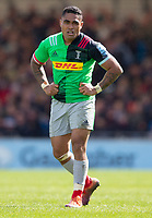 Harlequins' Francis Saili<br /> <br /> Photographer Bob Bradford/CameraSport<br /> <br /> Gallagher Premiership - Exeter Chiefs v Harlequins - Saturday 27th April 2019 - Sandy Park - Exeter<br /> <br /> World Copyright © 2019 CameraSport. All rights reserved. 43 Linden Ave. Countesthorpe. Leicester. England. LE8 5PG - Tel: +44 (0) 116 277 4147 - admin@camerasport.com - www.camerasport.com