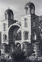 Serbian Orthodox church in Djakovica/Gjakova after suffering damage from explosives. Though under guard by peacekeeping troops, the church was destroyed a few weeks later.