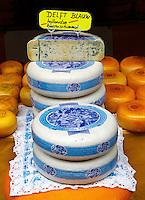 Delft Blauw  Kaas op de markt