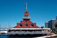 San Diego: Coronado Yacht Club Boathouse.  (Photo '78)