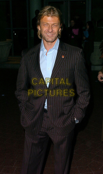 "SEAN BEAN.""North Country"" gala screening at Soho House, London, UK..February 1st, 2006.Ref: CAN.half length black suit jacket pinstripe hands in pockets .www.capitalpictures.com.sales@capitalpictures.com.© Capital Pictures."
