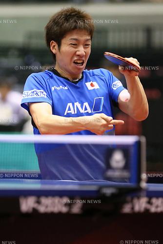 Jun Mizutani (JPN), JUNE 16, 2017 - Table Tennis : ITTF World Tour, Japan Open 2017 Men's Singles at Tokyo Metropolitan Gymnasium, Tokyo, Japan. (Photo by Sho Tamura/AFLO)
