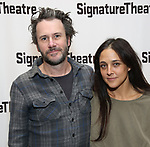 Josh Hamilton and Lily Thorne attend the Off-Broadway Opening Night of the Signature Theatre's 'Thom Pain' at the Signature Theatre on November 11, 2018 in New York City.