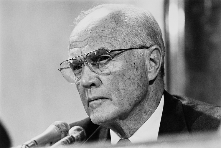Sen. John Herschel Glenn, D-Ohio, Senate Committee on Governmental Affairs Chairman. October 25, 1990 (Photo by Laura Patterson/CQ Roll Call)