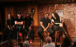 Kyle Taylor Parker and Nicole Vanessa Ortiz with cast during the Press Preview Presentation for the new production of 'Smokey Joe's Cafe' at Feinstein's/54 Below on June 27, 2018 in New York City.