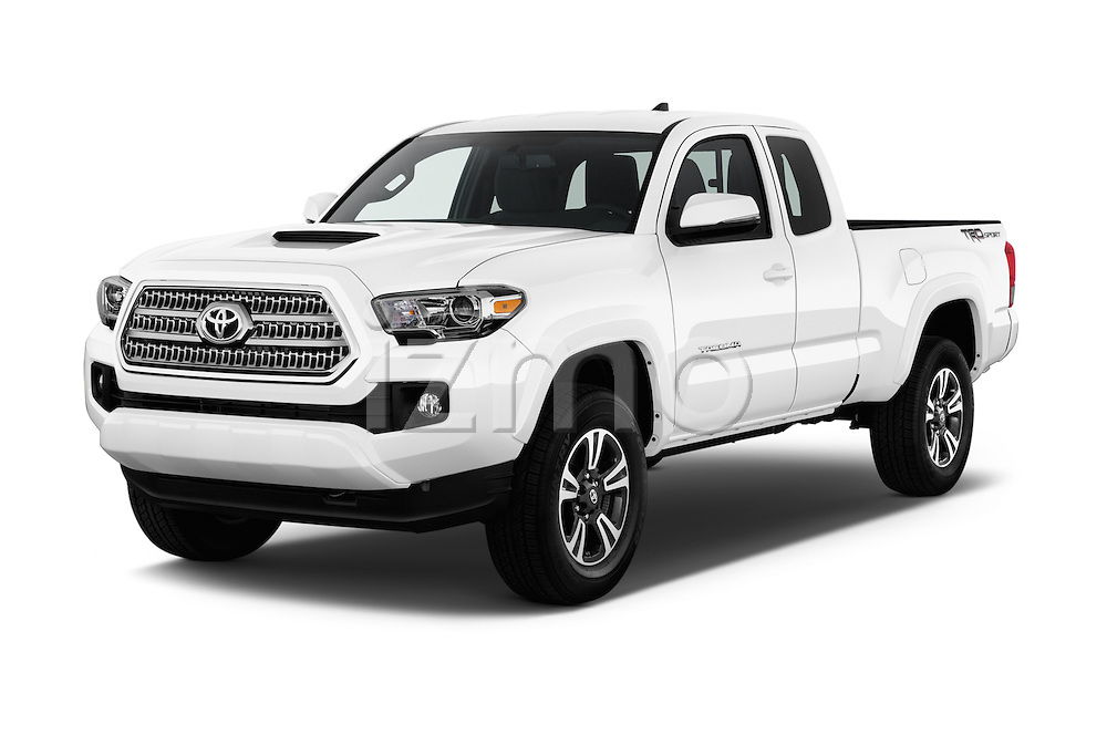 2016 Toyota Tacoma TRD Sport 4 Door Pick Up Angular Front stock photos of front three quarter view