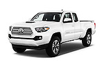 2017 Toyota Tacoma TRD Sport 4 Door Pick Up Angular Front stock photos of front three quarter view