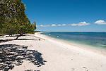 A perfect beach facing the sea on the remote island of Kiritimati in Kiribati