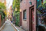 West Cedar Street in the Beacon Hill neighborhood, Boston, MA