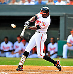 14 March 2009: Baltimore Orioles' outfielder Felix Pie in action during a Spring Training game against the Boston Red Sox at Fort Lauderdale Stadium in Fort Lauderdale, Florida. The Orioles defeated the Red Sox 9-8 in the Grapefruit League matchup. Mandatory Photo Credit: Ed Wolfstein Photo