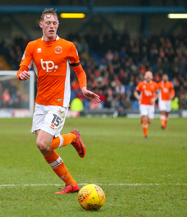 Blackpool's Sean Longstaff<br /> <br /> Photographer Alex Dodd/CameraSport<br /> <br /> The EFL Sky Bet League One - Bury v Blackpool - Saturday 3rd February 2018 - Gigg Lane - Bury<br /> <br /> World Copyright &copy; 2018 CameraSport. All rights reserved. 43 Linden Ave. Countesthorpe. Leicester. England. LE8 5PG - Tel: +44 (0) 116 277 4147 - admin@camerasport.com - www.camerasport.com
