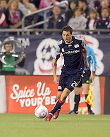 New England Revolution forward Marko Perovic (29) receives pass on the run. Real Salt Lake defeated the New England Revolution, 2-1, at Gillette Stadium on October 2, 2010.