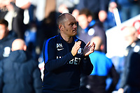 Preston North End manager Alex Neil  applauds the fans at the end of the match<br /> <br /> Photographer Richard Martin-Roberts/CameraSport<br /> <br /> The EFL Sky Bet Championship - Preston North End v Wigan Athletic - Saturday 6th October 2018 - Deepdale Stadium - Preston<br /> <br /> World Copyright &not;&copy; 2018 CameraSport. All rights reserved. 43 Linden Ave. Countesthorpe. Leicester. England. LE8 5PG - Tel: +44 (0) 116 277 4147 - admin@camerasport.com - www.camerasport.com