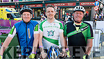 John McAdams, Brian O'Shea and Ger Carroll, all from Tralee who took part in the Ring of Beara Cycle on Saturday morning last.