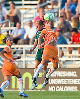 Sky Blue FC defender/midfielder Julianne Sitch (38) and Saint Louis Athletica Elise Weber (12) during a WPS match at Anheuser Busch Soccer Park, in St. Louis, MO, July 22 2009. Athletica won the match 1-0.
