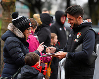 Andrew Surman of AFC Bournemouth signs an autograph during AFC Bournemouth vs Stoke City, Premier League Football at the Vitality Stadium on 3rd February 2018