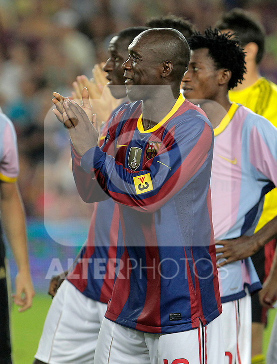 Milan's Calrence Seedorf after Joan Gamper Trophy. August 25,2010. (ALTERPHOTOS/Acero)