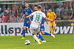 10.08.2019, wohninvest Weserstadion, Bremen, GER, DFB-Pokal, 1. Runde, SV Atlas Delmenhorst vs SV Werder Bremen<br /> <br /> DFB REGULATIONS PROHIBIT ANY USE OF PHOTOGRAPHS AS IMAGE SEQUENCES AND/OR QUASI-VIDEO.<br /> <br /> im Bild / picture shows<br /> <br /> Niklas Moisander (Werder Bremen #18)<br /> Musa Karli (SV Atlas Delmenhorst #10)<br /> Foto © nordphoto / Kokenge