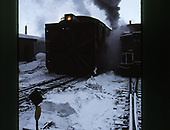 Front view of C&amp;TS rotary snowplow #OY alongside caboose #0503 in Chama yards.<br /> C&amp;TS  Chama, NM