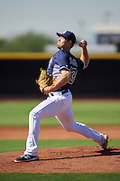 San Diego Padres pitcher Jon Edwards (43) during an Instructional League camp day on October 4, 2016 at the Peoria Sports Complex in Peoria, Arizona.  (Mike Janes/Four Seam Images)