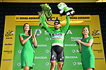 Peter Sagan (SVK) Bora-Hansgrohe retains the Green Jersey at the end of Stage 10 of the 2018 Tour de France running 158.5km from Annecy to Le Grand-Bornand, France. 17th July 2018. <br /> Picture: ASO/Alex Broadway | Cyclefile<br /> All photos usage must carry mandatory copyright credit (&copy; Cyclefile | ASO/Alex Broadway)