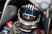 Sept. 28, 2012; Madison, IL, USA: NHRA funny car driver Tony Pedregon during qualifying for the Midwest Nationals at Gateway Motorsports Park. Mandatory Credit: Mark J. Rebilas-