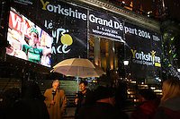 PICTURE BY VAUGHN RIDLEY/SWPIX.COM - Cycling - Tour de France - Yorkshire Grand Depart 2014 Launch - Town Hall, Leeds, England - 17/01/13 - The BBC shoot Look North live at the La Nuit du Tour outdoor show.