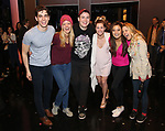 "Kyle Selig, Kate Rockwell, Grey Henson, Taylor Louderman, Ashley Park and Kerry Butler during the Actors' Equity Opening Night Gypsy Robe Ceremony honoring Brendon Stimson for ""Mean Girls"" at the August Wilson Theatre Theatre on April 8, 2018 in New York City."