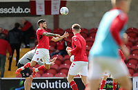Fleetwood Town's Danny Andrew players during the pre-match warm-up <br /> <br /> Photographer Rich Linley/CameraSport<br /> <br /> The EFL Sky Bet League One - Fleetwood Town v Oxford United - Saturday 7th September 2019 - Highbury Stadium - Fleetwood<br /> <br /> World Copyright © 2019 CameraSport. All rights reserved. 43 Linden Ave. Countesthorpe. Leicester. England. LE8 5PG - Tel: +44 (0) 116 277 4147 - admin@camerasport.com - www.camerasport.com