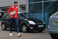 Stevenage Players Arrive during Stevenage vs Cambridge United, Sky Bet EFL League 2 Football at the Lamex Stadium on 14th April 2018
