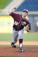 Relief pitcher Matt Brazis #39 of the Boston College Eagles in action versus the Florida State Seminoles at Durham Bulls Athletic Park May 20, 2009 in Durham, North Carolina. (Photo by Brian Westerholt / Four Seam Images)