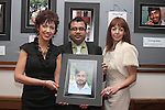 "Photographer Eimhear Collins, Manager of Indus, Hasan with Co-Owner Leigh Tallant at the Opening of the ""Faces of India"" photography exhibition in Indus Restaurant...(Photo credit should read Jenny Matthews www.newsfile.ie)....This Picture has been sent you under the conditions enclosed by:.Newsfile Ltd..The Studio,.Millmount Abbey,.Drogheda,.Co Meath..Ireland..Tel: +353(0)41-9871240.Fax: +353(0)41-9871260.GSM: +353(0)86-2500958.email: pictures@newsfile.ie.www.newsfile.ie."