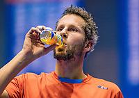 Rotterdam, Netherlands, December 17, 2017, Topsportcentrum, Ned. Loterij NK Tennis, Final man's single: Jasper Smit (NED)<br /> Photo: Tennisimages/Henk Koster