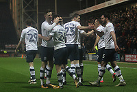 Preston North End's Sean Maguire celebrates scoring his sides second goal <br /> <br /> Photographer Mick Walker/CameraSport<br /> <br /> The EFL Sky Bet Championship - Preston North End v Leeds United - Tuesday 10th April 2018 - Deepdale Stadium - Preston<br /> <br /> World Copyright &copy; 2018 CameraSport. All rights reserved. 43 Linden Ave. Countesthorpe. Leicester. England. LE8 5PG - Tel: +44 (0) 116 277 4147 - admin@camerasport.com - www.camerasport.com