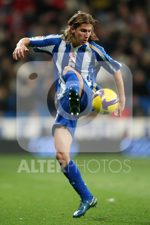 Deportivo de la Coruna's Filipe Luis during La Liga match.January 25 2009. (ALTERPHOTOS/Acero).