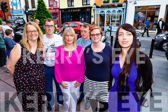 Sarah Jane Horgan, with Kingdom Connect members a new social Integration group in Killarney on Saturday evening l-r: Eileen kehoe Shrone, Maurice MacAulliffe Brosna, Margaret Quirke Brosna, Sean O'Keeffe Cork and Liz Harkin Dingle