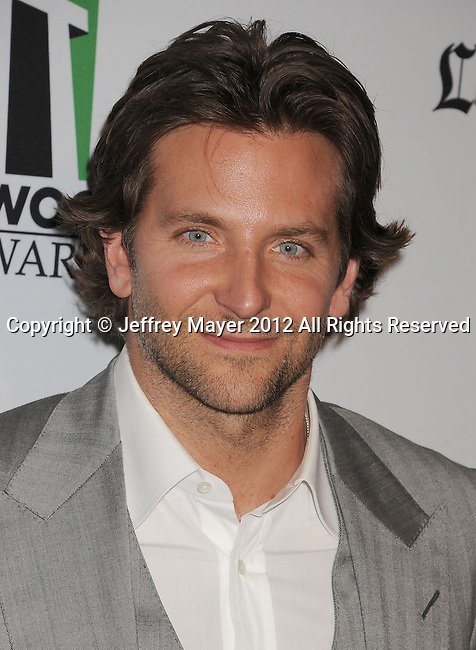 BEVERLY HILLS, CA - OCTOBER 22: Bradley Cooper arrives at the 16th Annual Hollywood Film Awards Gala presented by The Los Angeles Times held at The Beverly Hilton Hotel on October 22, 2012 in Beverly Hills, California.