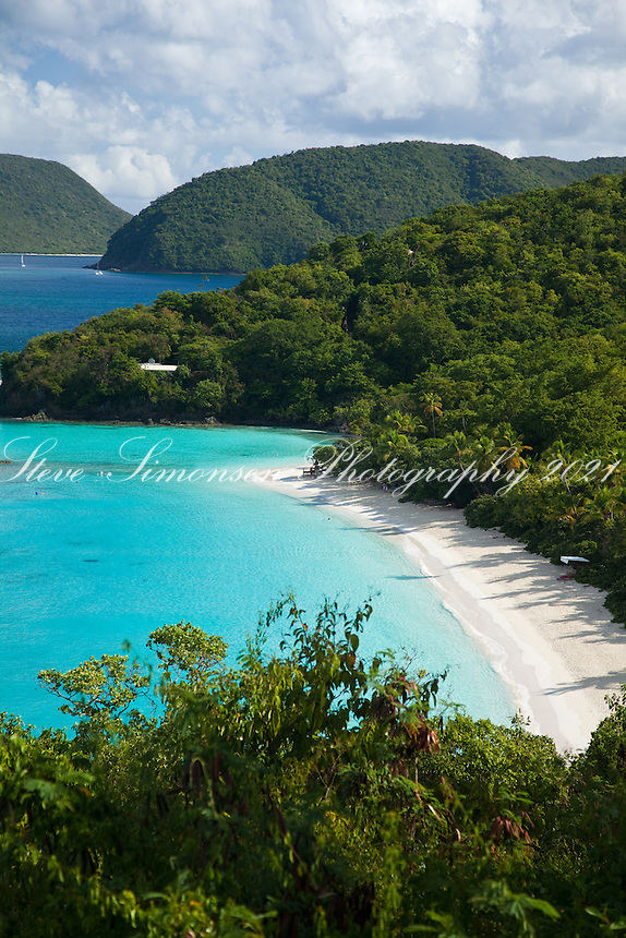 Trunk Bay, St John.Virgin Islands National Park.