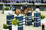 Emanuele Gaudiano of Italy riding Jamar d'Ysenbeeck Z competes in the Hong Kong Jockey Club Trophy during the Longines Masters of Hong Kong at the Asia World Expo on 09 February 2018, in Hong Kong, Hong Kong. Photo by Ian Walton / Power Sport Images