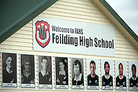 The gallery of FHS old boys who have represented NZ in the All Blacks at Feilding High School, Feilding, New Zealand on Saturday, 2 May 2015. Photo: Dave Lintott / lintottphoto.co.nz