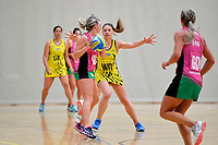 Central Manawa&rsquo;s Paris Lokotui in action during the Beko Netball League - Central Manawa v Southern Blast at ASB Sports Centre, Wellington, New Zealand on Sunday 12 May 2019. <br /> Photo by Masanori Udagawa. <br /> www.photowellington.photoshelter.com